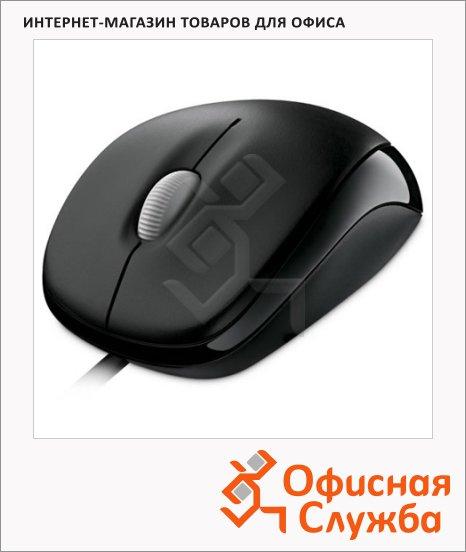 Мышь проводная оптическая USB Microsoft Retail Compact Optical Mouse 500, 800dpi, черная