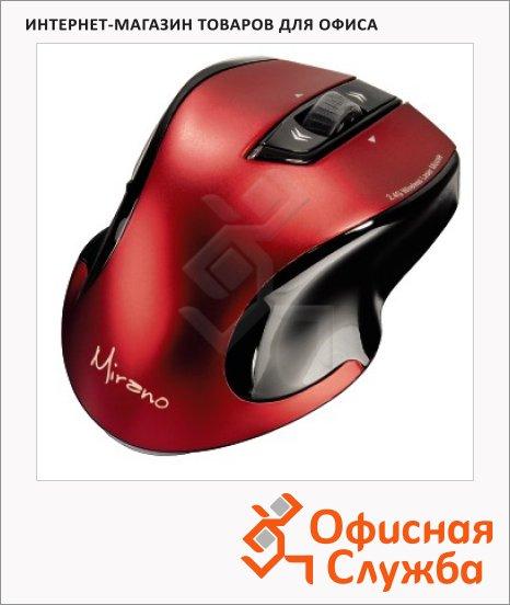 Мышь беспроводная лазерная USB Hama Mirano черно-красная, 800/1600dpi, H-53877