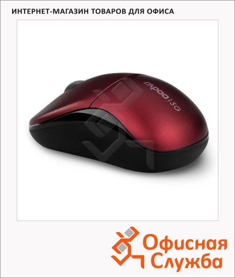 Мышь беспроводная оптическая USB Rapoo Lite 1090P, 1000dpi, черно-красная