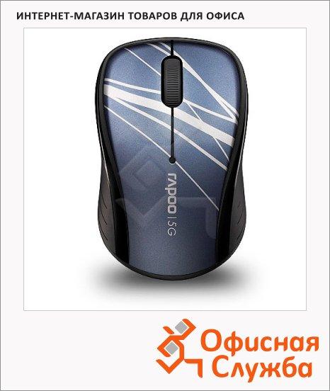 Мышь беспроводная оптическая USB Rapoo 3000P, 1000dpi, синяя