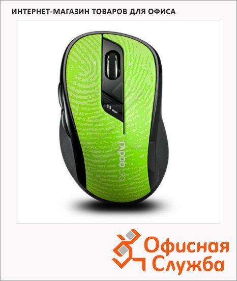 фото: Мышь беспроводная оптическая USB 7100P 500/1000dpi, зелено-черная