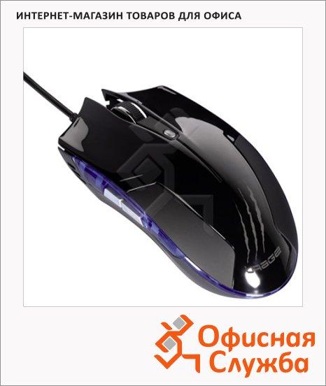 Мышь игровая оптическая USB Hama uRage черная, 600-2400dpi