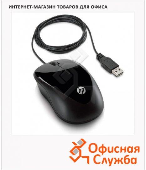 Мышь проводная оптическая USB Hp X1000, черная