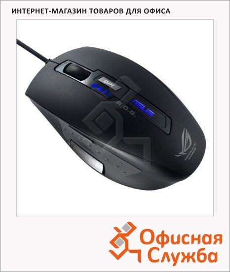 Мышь игровая лазерная USB Asus GX850, 1250-5000dpi, черная