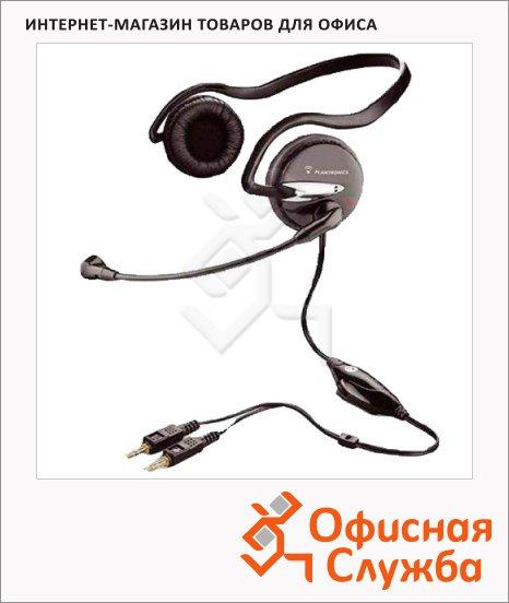 Гарнитура проводная Plantronics A345 черная, 20 Гц-20 кГц
