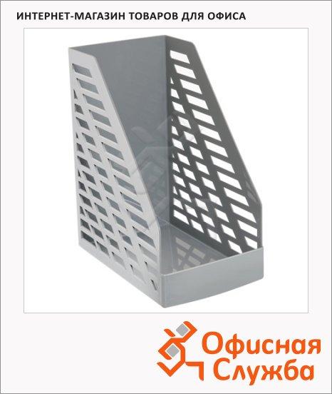 фото: Накопитель вертикальный для бумаг Стамм XXL А4 160мм, серый, ЛТ900