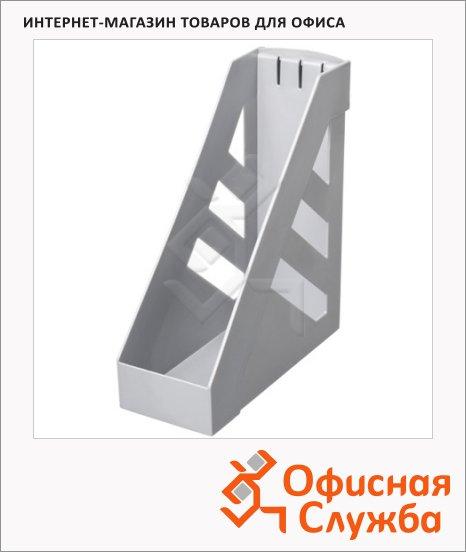 Накопитель вертикальный для бумаг Стамм Ультра А4, 100мм, серый, ЛТ03