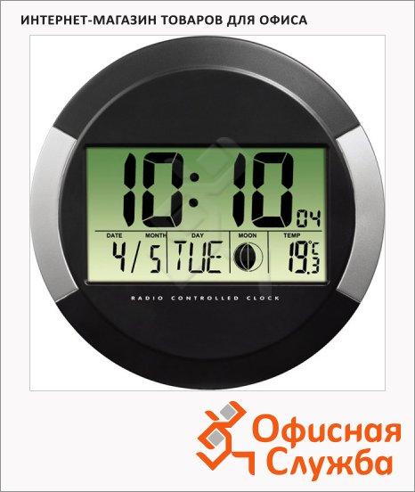 Часы настенные Hama черные, d=24см, круглые, PP-245