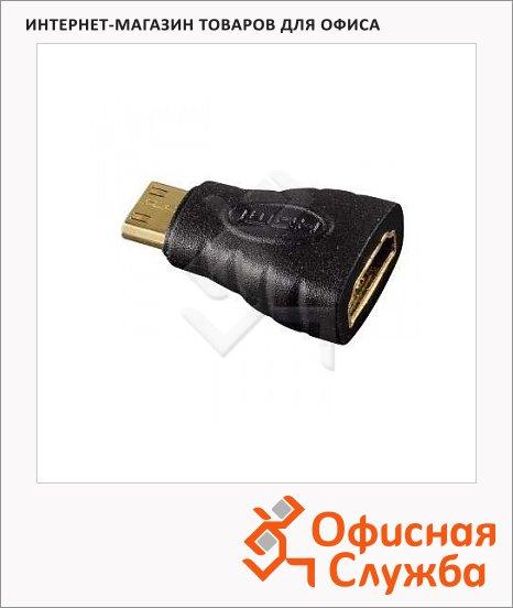 Адаптер Hama HDMI-mini-HDMI (m-f) черный, H-39861