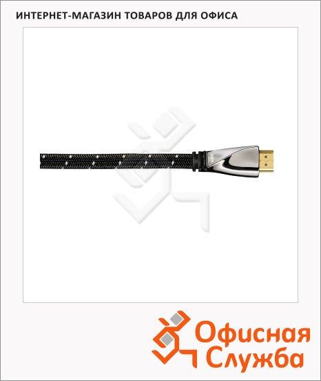 фото: Кабель HDMI-HDMI (m-m) 5 м ver 1.4, позолоченные контакты, черный, H-107465