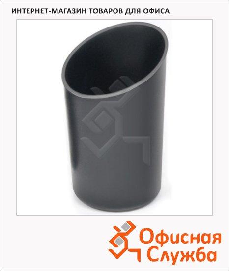 Подставка для ручек Стамм Дуэт 75х125мм, черная, СН101