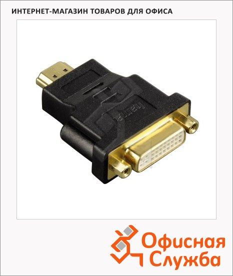 Адаптер Hama HDMI-DVI-D 24+1-pin (m-f) черный, H-34036
