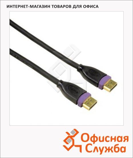 Кабель Display port Hama A-A (m-m) 3 м, позолоченные контакты, двойное экранирование, черный, H-784