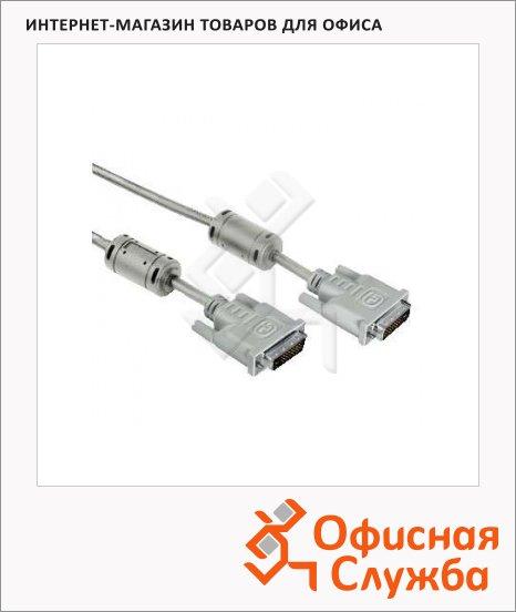 Кабель соединительный DVI-DVI Hama DVI-DVI (m-m) 1.8 м, серый, Dual Link, H-45077