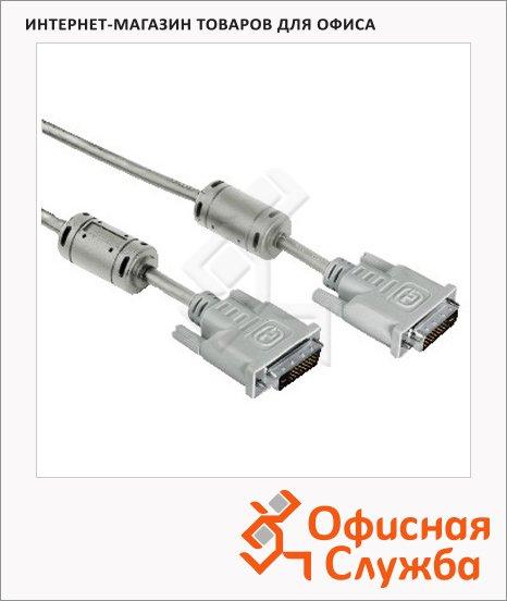 Кабель соединительный DVI-DVI Hama DVI-DVI (m-m) 1.8 м, серый, Dual Link, H-20156