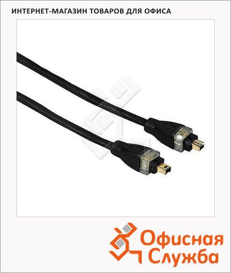 фото: Кабель FireWire 4-pin-4-pin (m-m) 2 м позолоченные контакты, черный, H-41866
