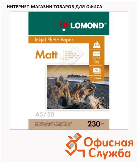 фото: Фотобумага для струйных принтеров Lomond А5 50 листов, 230 г/м2, матовая, 102069