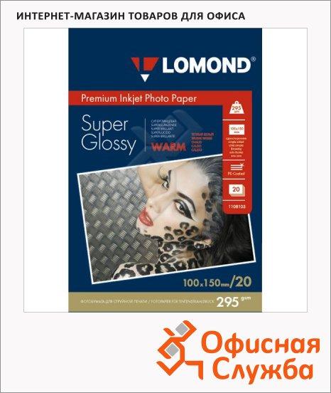 фото: Фотобумага для струйных принтеров Lomond А6 20 листов, 295г/м2, суперглянцевая, 1108103