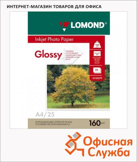 фото: Фотобумага для струйных принтеров Lomond А4 25 листов, 160г/м2, глянцевая, 102079