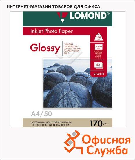 Фотобумага для струйных принтеров Lomond А4, 25 листов, 102143
