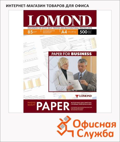 фото: Фотобумага для струйных принтеров Lomond А4 500 листов, 85 г/м2, матовая, двусторонняя, 102134