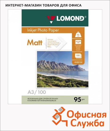 фото: Фотобумага для струйных принтеров Lomond А3 100 листов, 95 г/м2, матовая