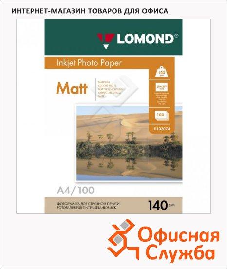 фото: Фотобумага для струйных принтеров А4 140 г/м2, матовая, 102074