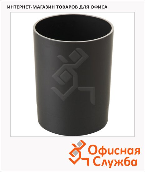 Подставка для ручек Стамм Офис 70х90мм, черная, СН11