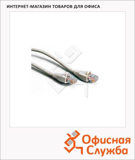 Патч-корд Hold Key 8p8c (RJ45)-8p8c (RJ45) (m-m) 15 м, серый, UTP