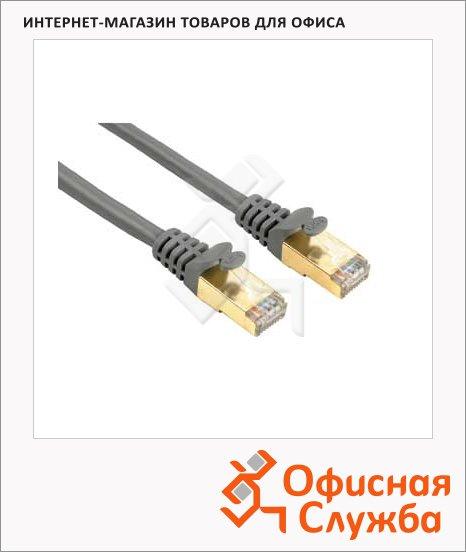 Патч-корд Hama CAT5e STP, 8p8c (RJ45)-8p8c (RJ45), (m-m), серый, 0.5 м