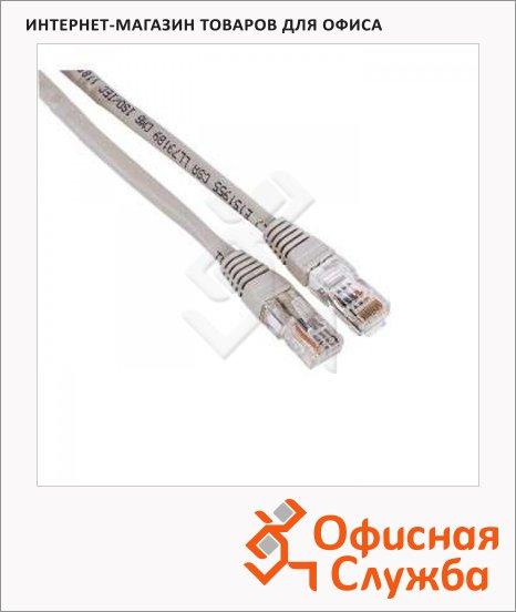 фото: Патч-корд Hama 8p8c (RJ45)-8p8c (RJ45) (m-m) 10 м серый, CAT5e UTP, H-30622