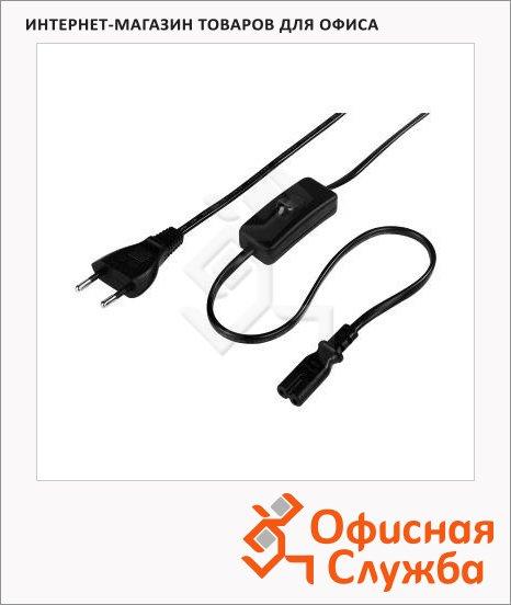 фото: Кабель питания для бытовой электроники 2-pin 2 м черный, H-44236