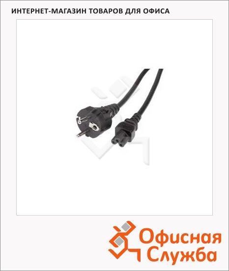 Кабель питания Hama 3-pin-3-pin (m-f) 0.75м, черный, лист клевера, H-78480