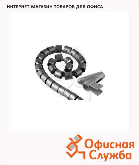 Кабель-органайзер Hama [ObZ] 30 мм 1.5 м, серебристый, H-20601