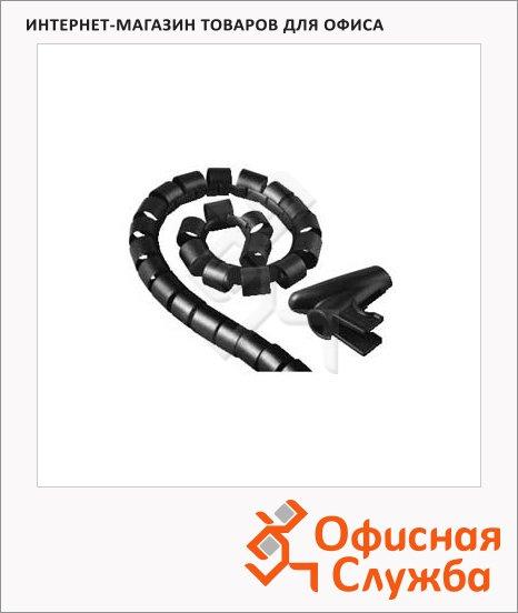 Кабель-органайзер Hama [ObZ] 30 мм 1.5 м, черный, H-20603