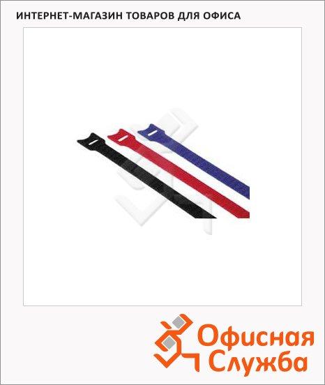 Стяжка для кабеля Hama Hook&Loop 12 шт/уп, 14.5 см, разноцветная, термостойкая, на липучке