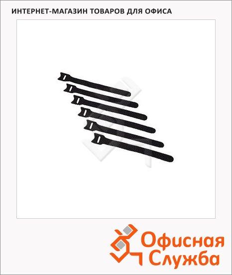 фото: Стяжка для кабеля Hama Hook&Loop 6 шт/уп 14.5 см, на липучке, H-34030
