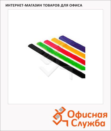 фото: Стяжка для кабеля Hook&Loop 5шт/уп 21.5см, разноцветная, термостойкая, на липучке