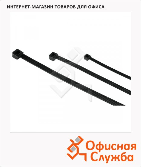 Хомут для кабеля Hama 150 шт, черные, H-20622