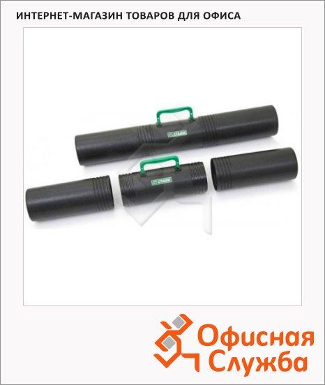 Тубус с ручкой Стамм ПТ42 D=10см, L=65см, 3 секции, черный