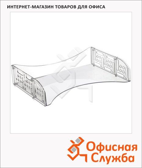 фото: Лоток горизонтальный для бумаг Стамм Филд А4 прозрачный, ЛТ802