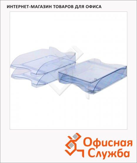 Лоток горизонтальный для бумаг Стамм Люкс А4, 2 шт/уп, голубой, ЛТ603