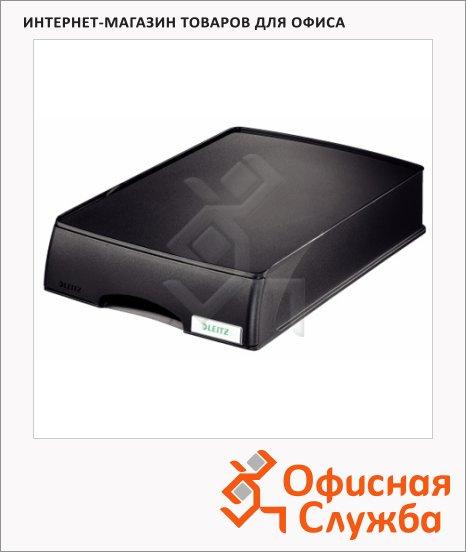 Бокс для бумаг Leitz Plus А4-С4, с выдвижным ящиком, черный, 52100095