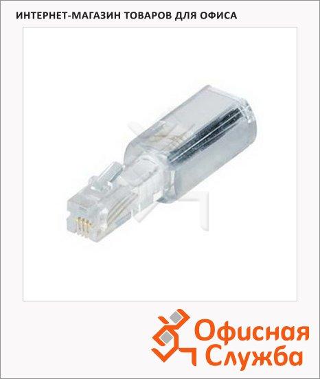 фото: Адаптер для телефонной трубки 4p4c анти-скручиватель, прозрачный белый