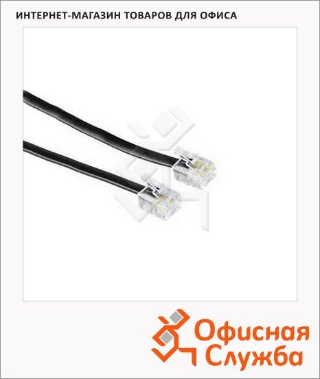 фото: Кабель телефонный Hama 6p4c (m-m) 10м черный, H-30079