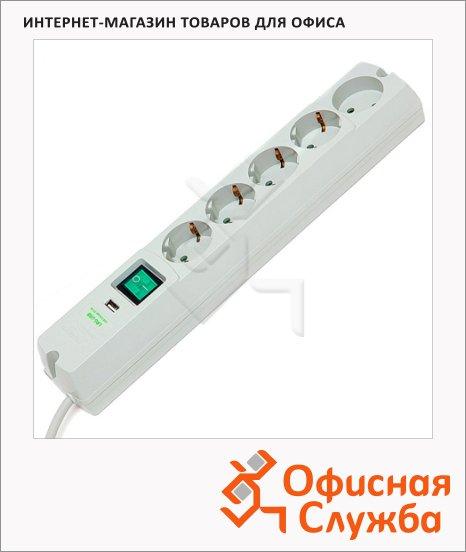 Сетевой фильтр Most Erg-USB 5 розеток, черный