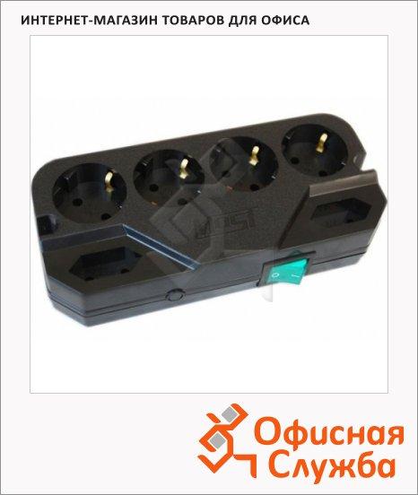 фото: Сетевой фильтр Most СRG 6 розеток 4 с заземлением + 2 без заземления, 2м, черный