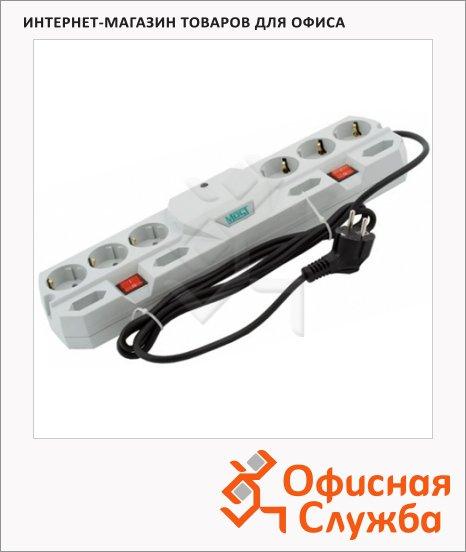 Сетевой фильтр Most ТRG 10 розеток, 2 независимых блока розеток для разной техники, 5м, белый