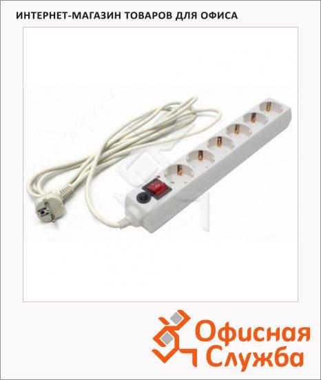 Сетевой фильтр Buro 600 6 розеток, 5м, белый