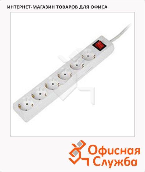 Удлинитель электрический Hama 6 розеток, белый, 1.4м, H-30530